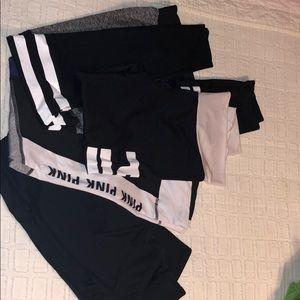 4 pairs of women's leggings.